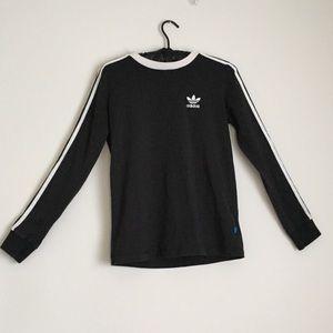 Adidas Long Sleeve 3 Stripe Ringer T-shirt Small